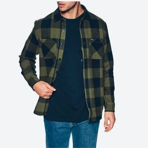 Volcom Gagel l/s Flannel Green Black NEW 🎁  Lrg